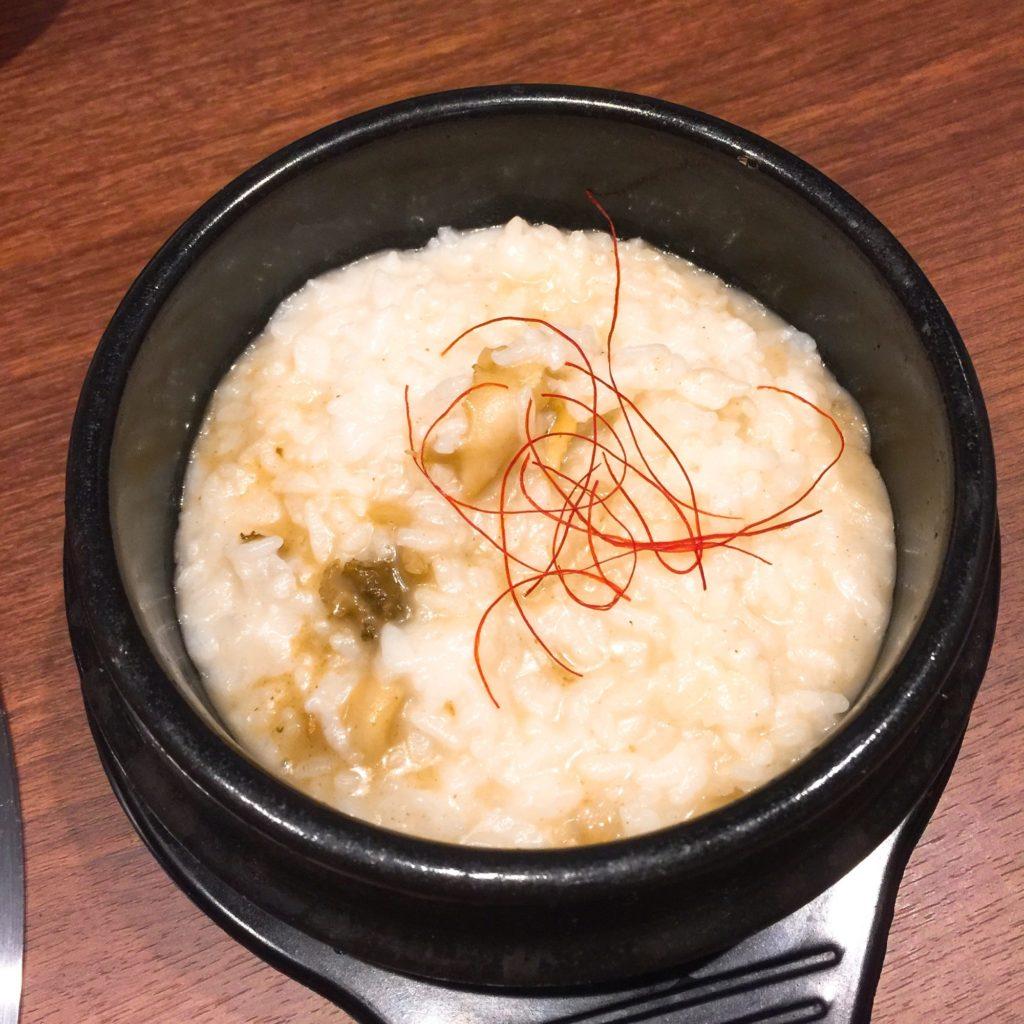 大阪北新地の焼肉虎龍 浪漫亭で美味しい焼きしゃぶとあわび粥をいただきました