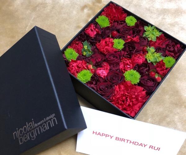 妻の誕生日にニコライ・バーグマンのフラワーボックスを発注しました|アメプラ・コンシェルジュデスクのおかげで素敵な誕生日になりました