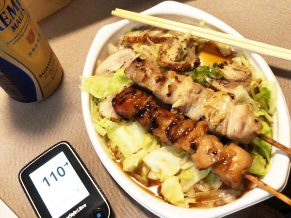 コンビニ惣菜でも組み合わせ次第で野菜中心,タンパク中心のダイエットができると気づいた1日|糖尿病内科医のフリースタイルリブレ自己血糖記録
