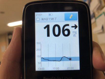 夕食に久しぶりの白飯を食べたら血糖値が60上がって,反動でお腹が空いた1日|糖尿病内科医のフリースタイルリブレ自己血糖記録