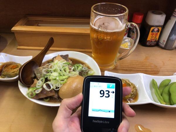 大森で友人と飲み,あまりに楽しかったので血糖値測らずに就寝してしまった素敵な1日 糖尿病内科医のフリースタイルリブレ自己血糖記録