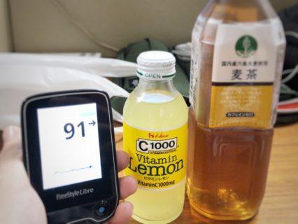 CCレモンを朝食にスタートし,夕食後のゴルフレッスンで締めくくった1日 糖尿病内科医のフリースタイルリブレ自己血糖記録
