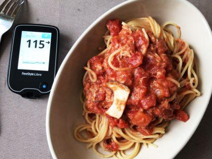 台風で京都行きが流れたので,自宅でトマトスパゲッティを食べて血糖値見ながらToDoを処理した1日|糖尿病内科医のフリースタイルリブレ自己血糖記録