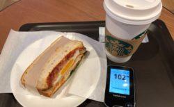 昼食を食べそびれて、スタバと自宅で2度の夕飯を食べてしまった1日|糖尿病内科医のフリースタイルリブレ自己血糖記録